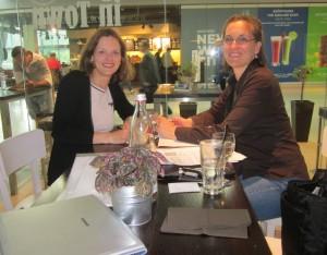 Karin Thier & Christine Erlach in Frankfurt